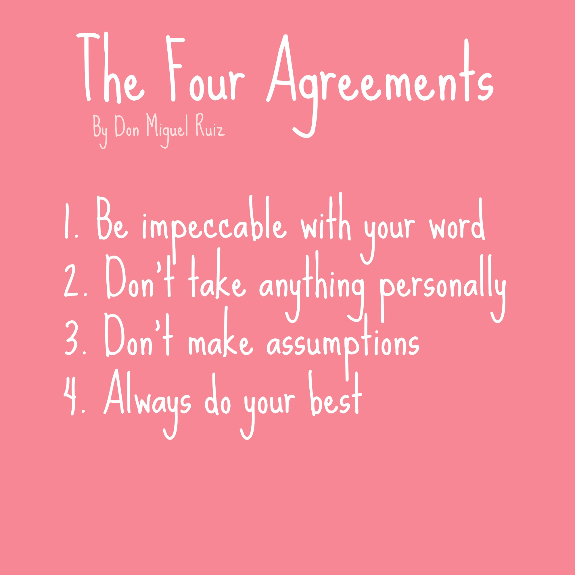 Book Summary The Four Agreements Term Paper Service Baassignmentlnkx